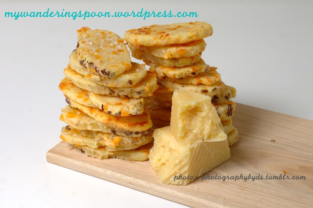 Homemade Seeded Four Cheese Crackers | MY WANDERING SPOON